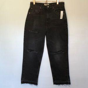 We The Free Thirty distressed frayed hem jeans
